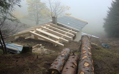 Hüttenbau Gerstruber Älpele | Die Rechtler